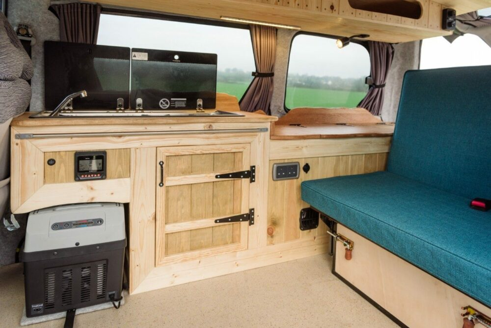 small camper van conversion interior