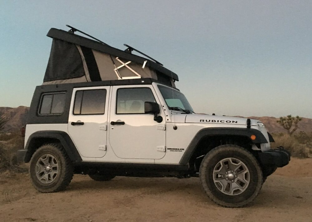 jeep wrangler small camper van