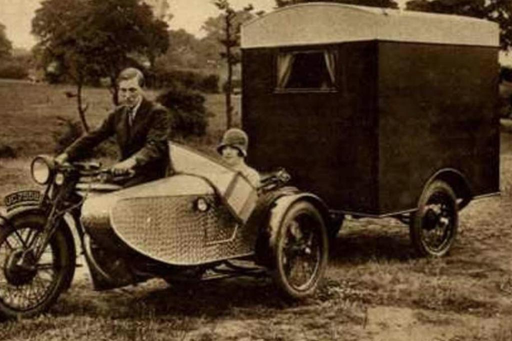 history of the camper van - the first motorised caravan