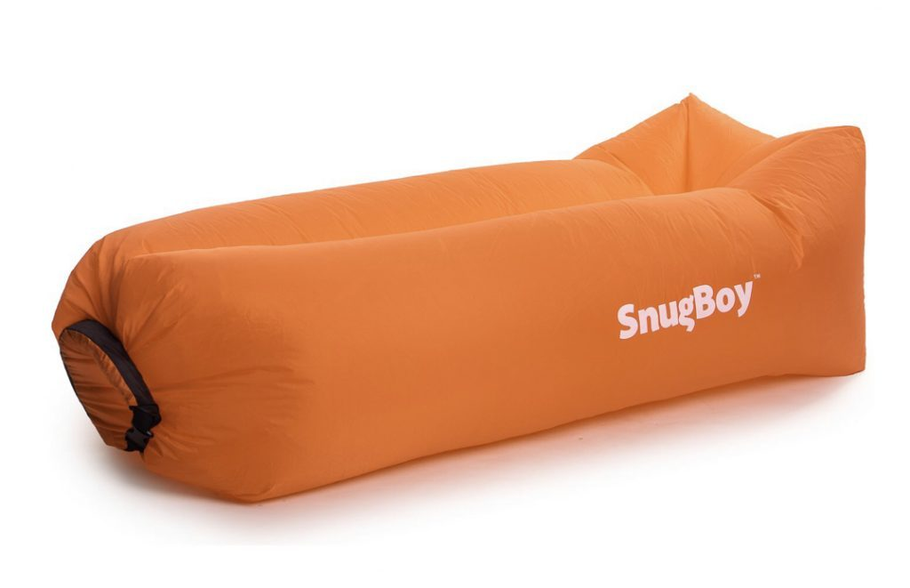 Best camping chairs - orange snug boy inflated