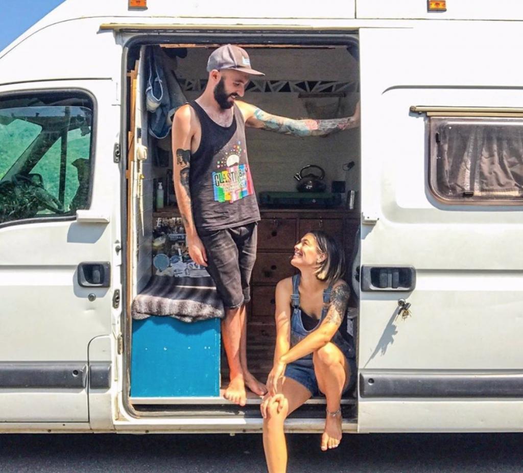 Vincent Vanlife in their van in Italy