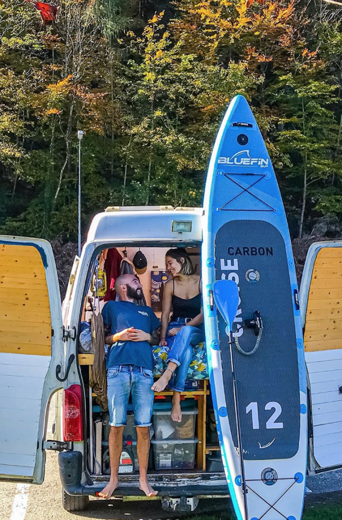living the van life with a Paddleboards in Austria