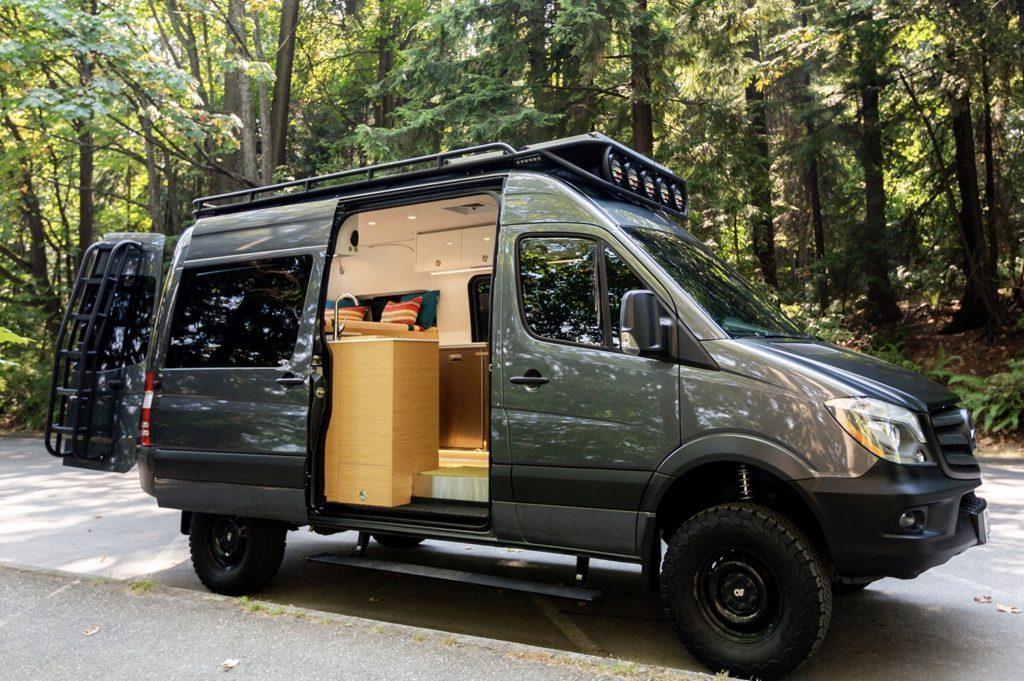 Best camper vans - Yin Yang external with door open
