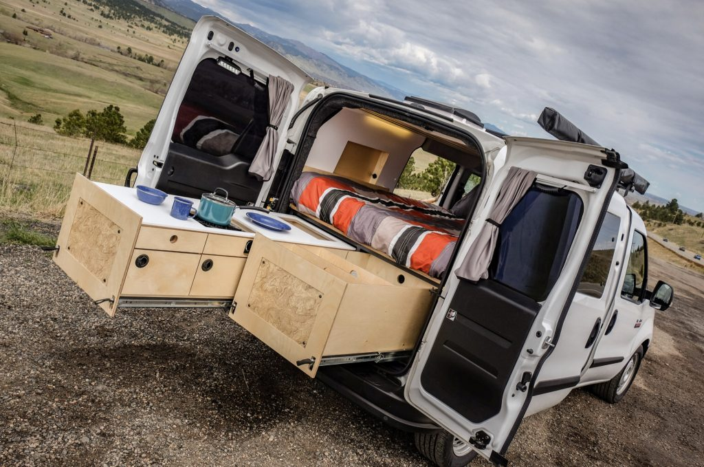 Ram ProMaster City with bed and pull out drawers/kitchen
