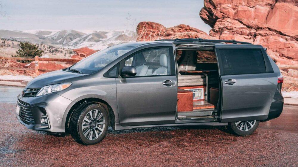 Toyota Sienna camper minivan