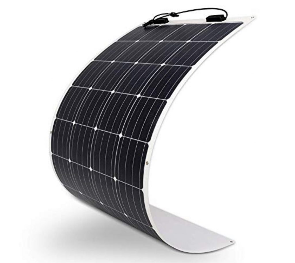 Renogy flexible solar panel, curved