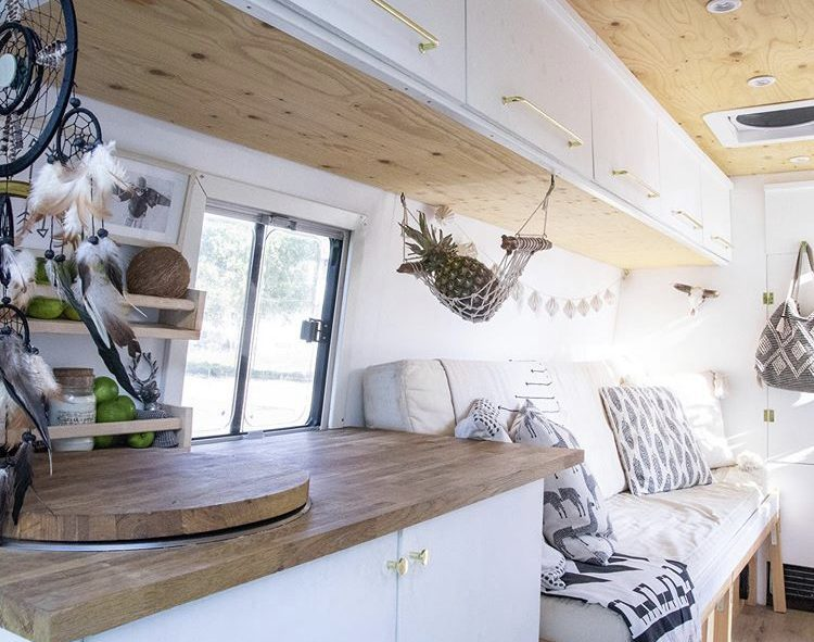 DIY camper van conversions - inside sandra's Van