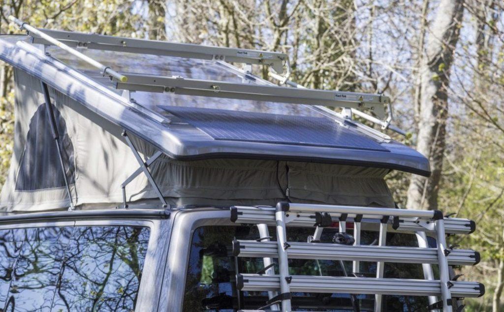 Best solar panels for your camper van - solar panels on pop top roof