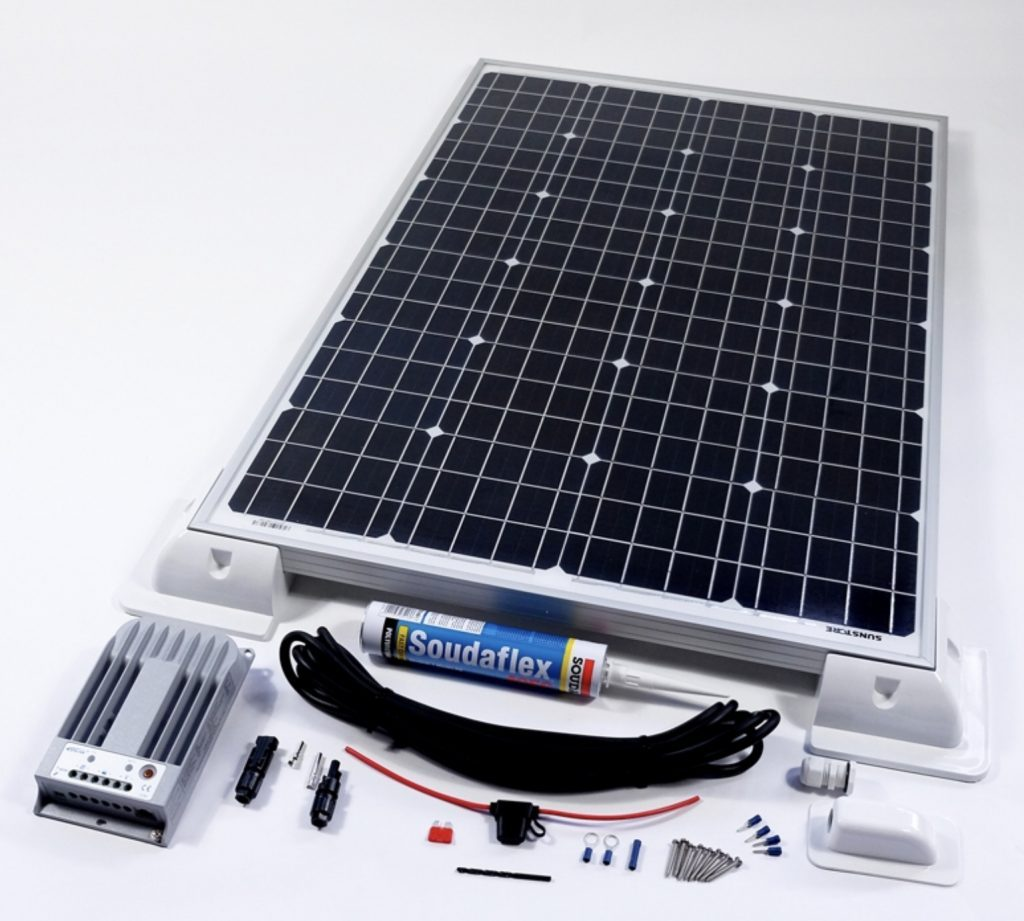 Best solar panels for your camper van - sun store solar kit layed out