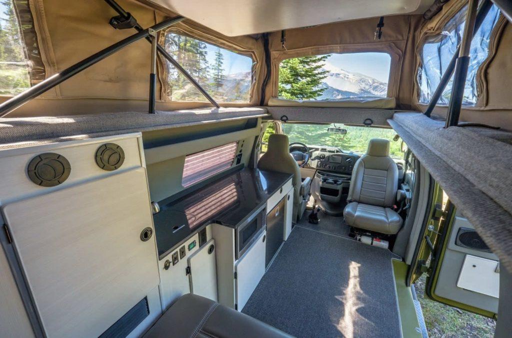 Interior of Sportsmobile Classic