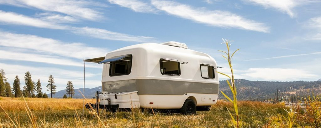 Happier Camper Traveller in a meadow