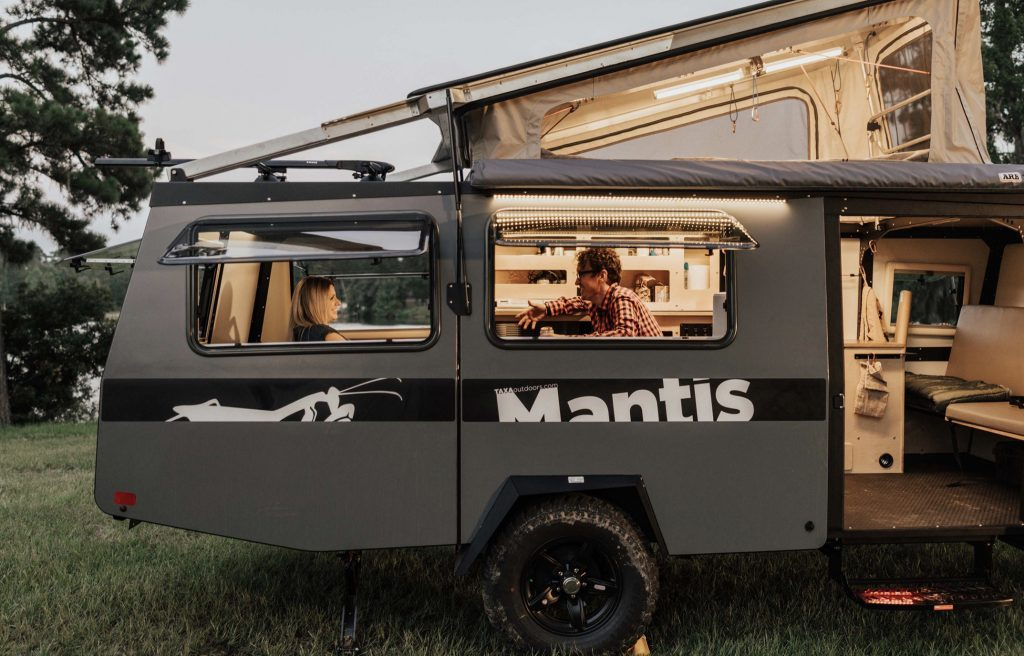 Best RVs- Taxa Mantis exterior with roof popped