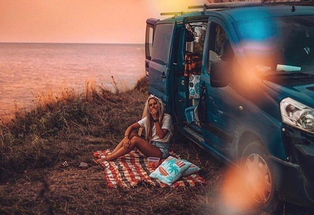 Camping by the sea in Europe