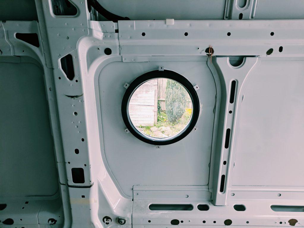 camper van windows - the circular porthole option