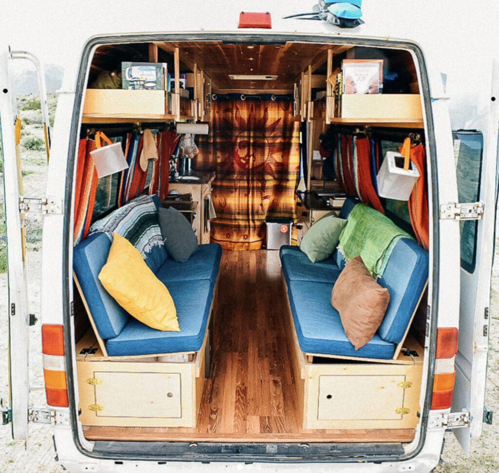 bright, spacious campervan interior