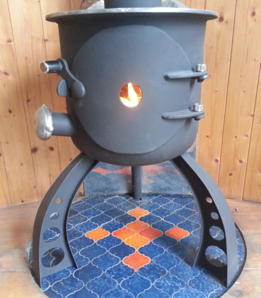van wood stove - Gas bottle converted stove