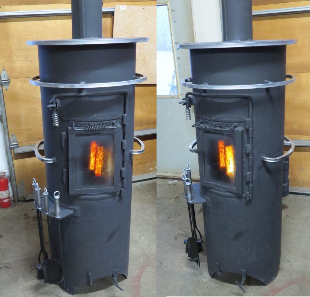 van wood stove - Vertical gas bottle stove