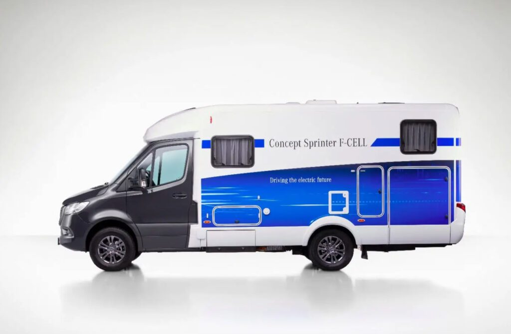 Concept Sprinter F-CELL Mercedes Campervan with blue decals