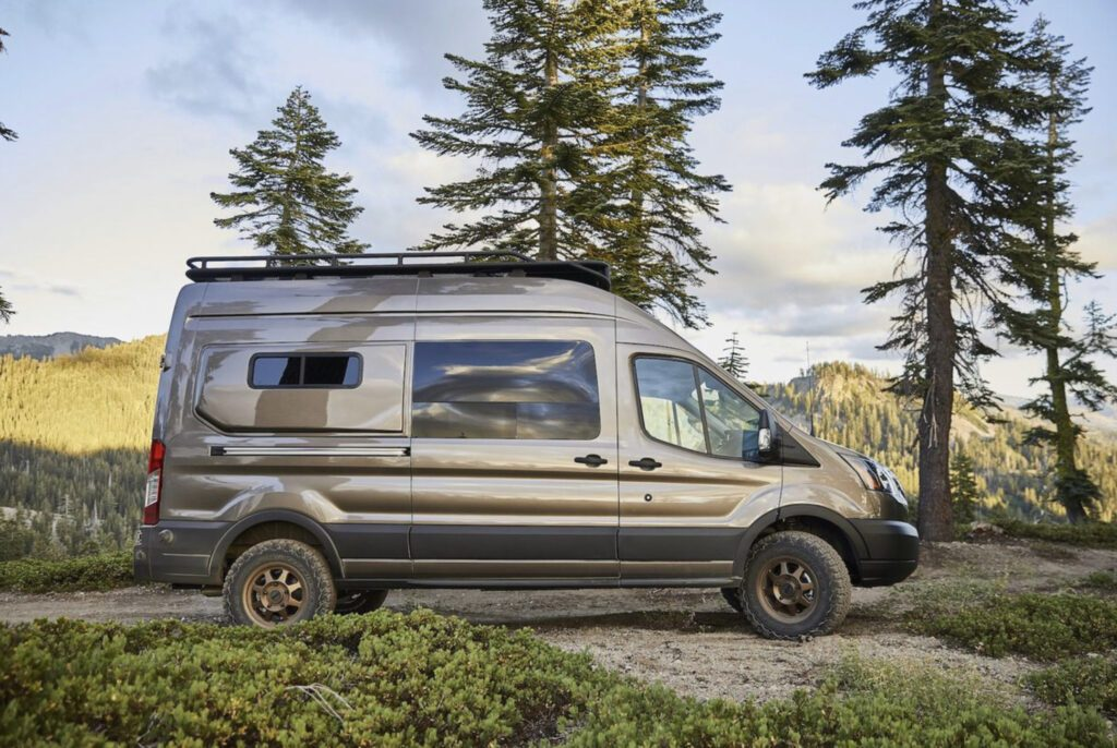 Class B RV: exterior of benchmark ford conversion