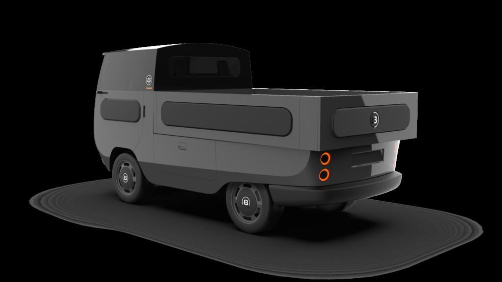 eBussy electric camper van - tipper model
