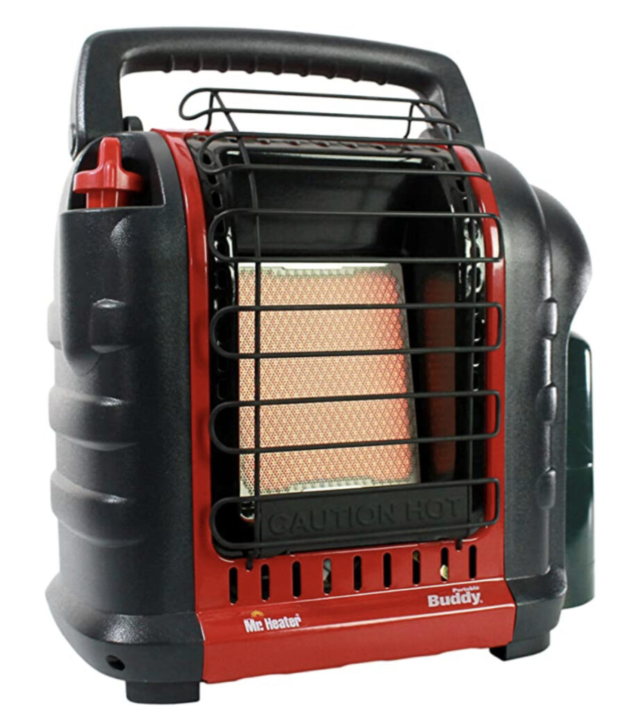 Camping tent heater - mr heater