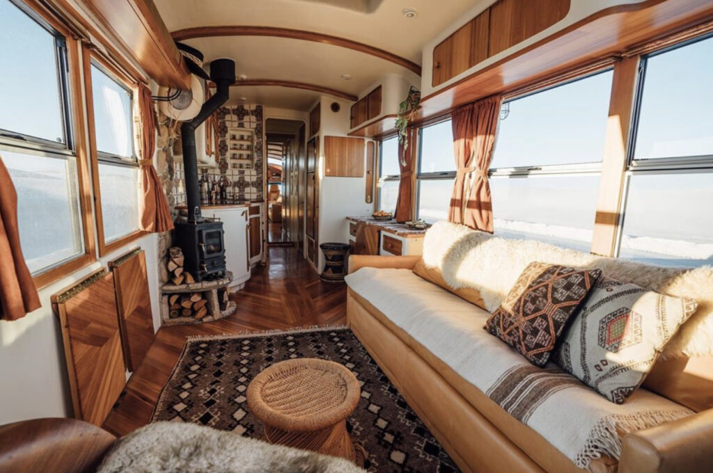 Seventies style bus, very trendy