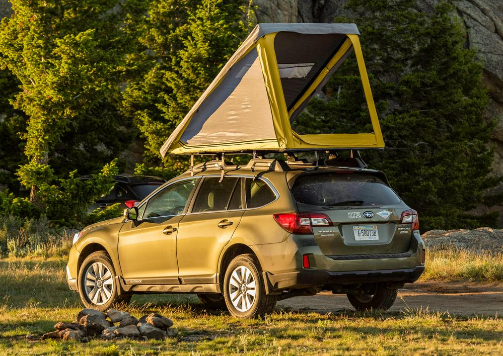 Superlite Rooftop Tent on a car