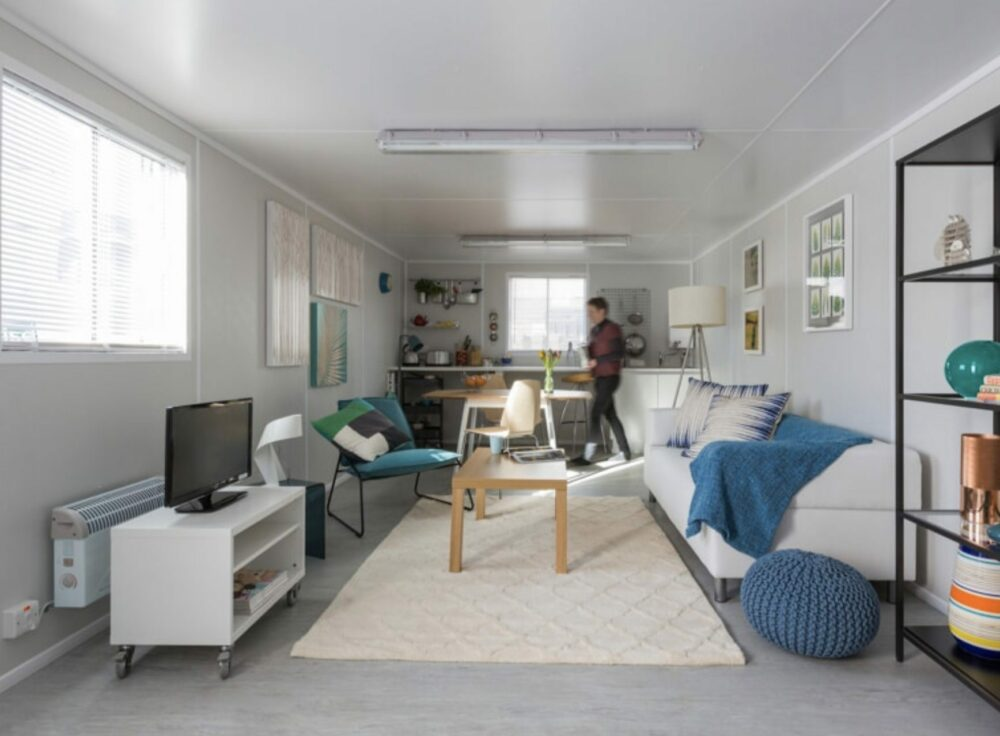 Inside shipping container homes is luxuriously livable