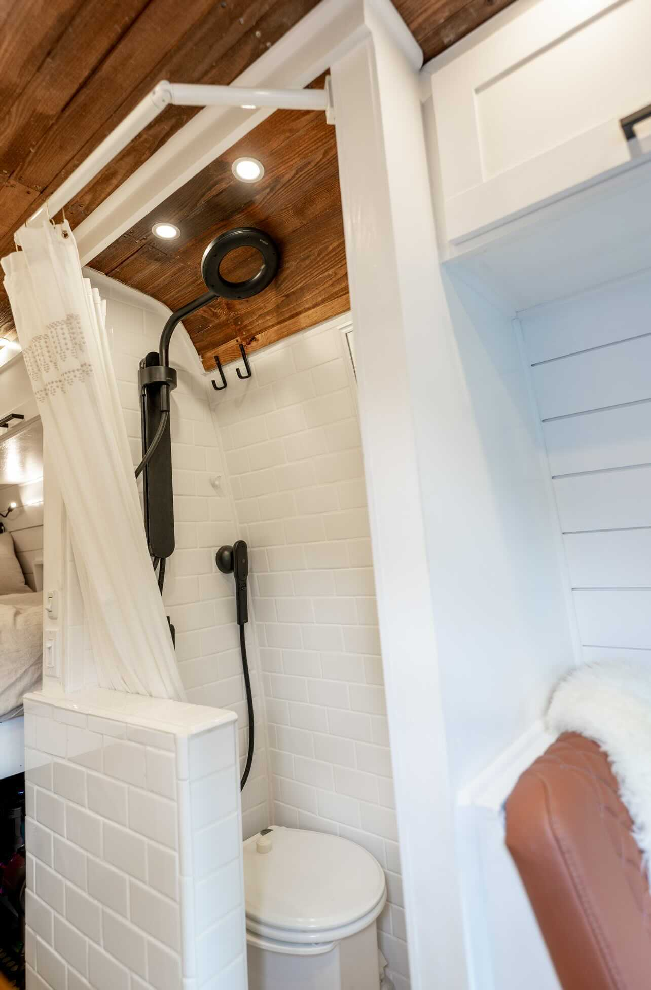 Full Sized Shower In Sprinter Van