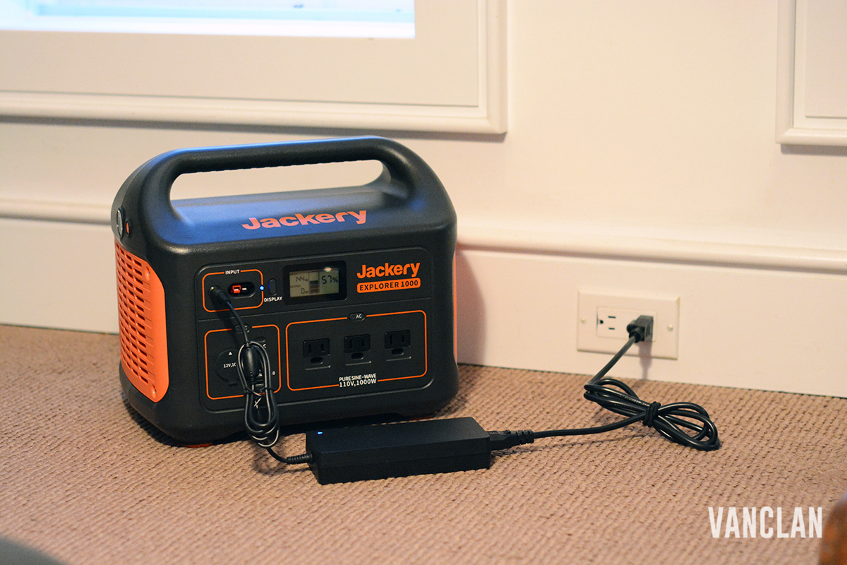 Jackery charging off of 120v house outlet