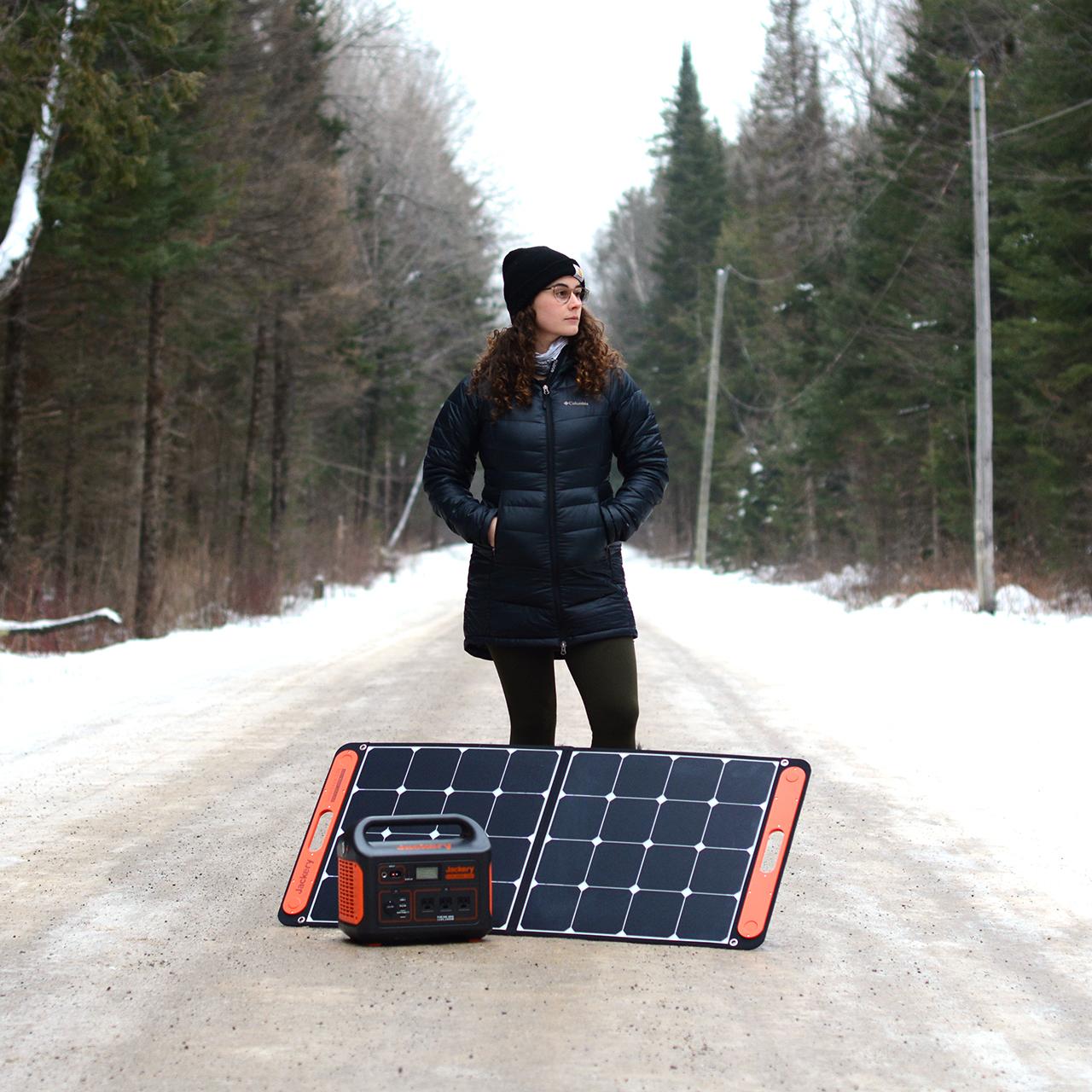 Van Clan Jackery Solar Generator In Use