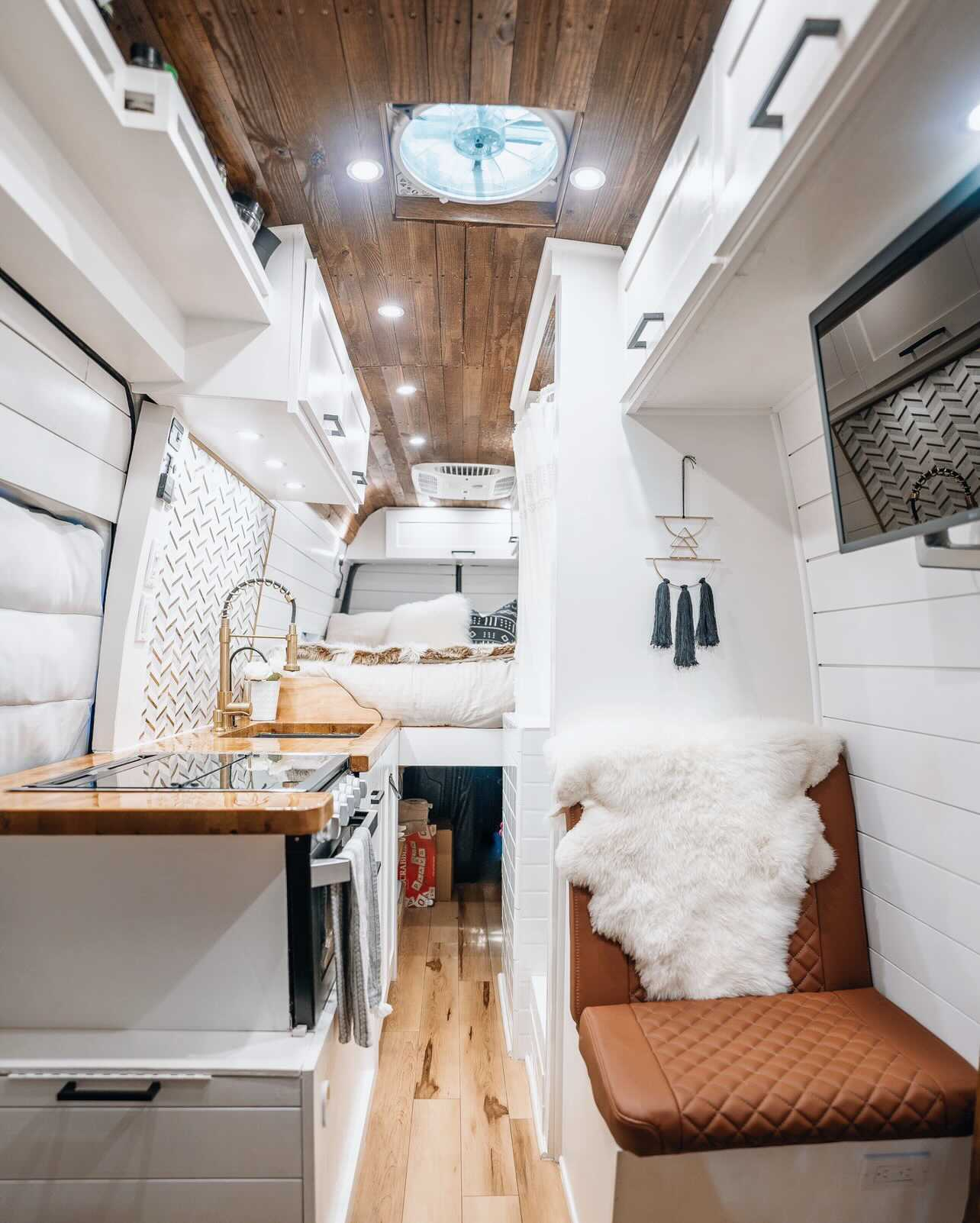 Full Sized Shower In a Camper Van