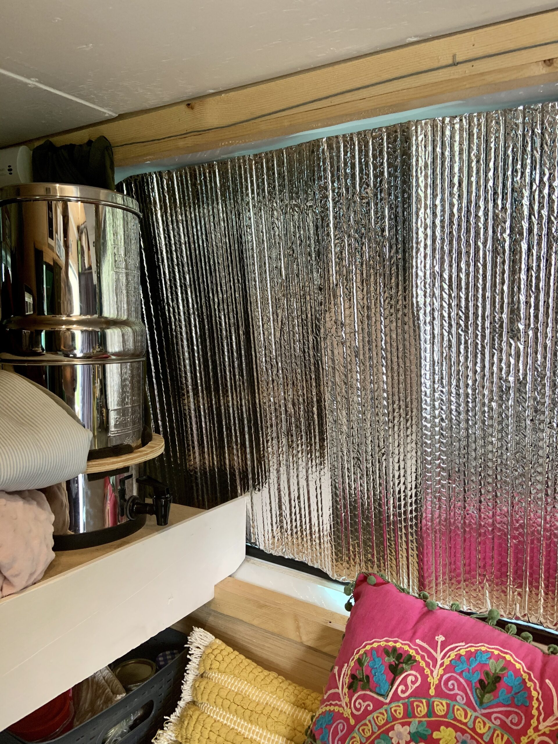 How to deal with condensation in a van